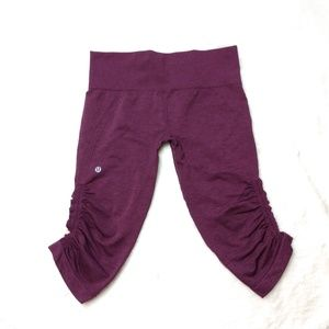 Lululemon In The Flow Crop II Heathered Berry Yum